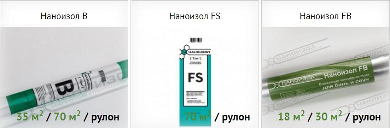 пароизоляция наноизол