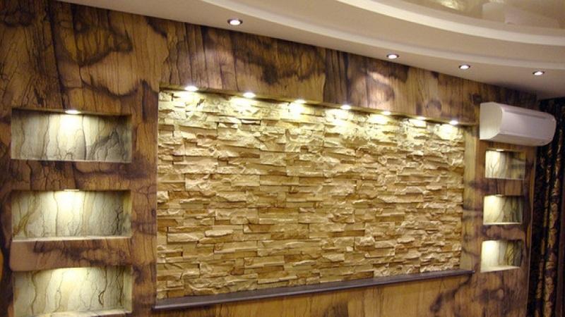 Гибкая плитка под камень и кирпич для стен и пола (фото, видео)