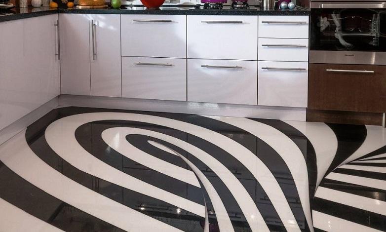 полимерные полы на кухне