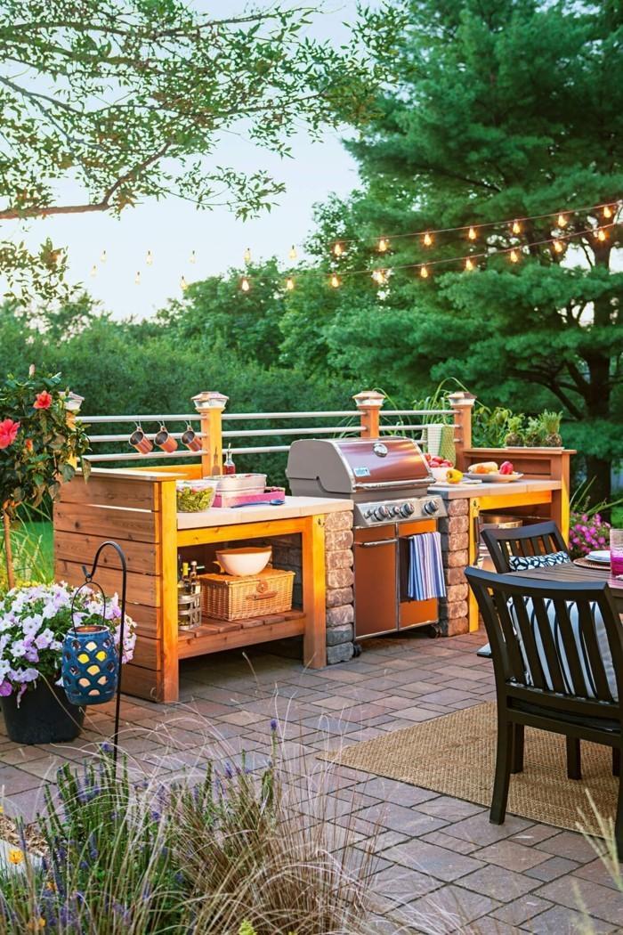 кухня в саду