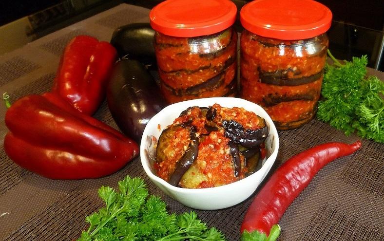 салатик из баклажанов на зиму